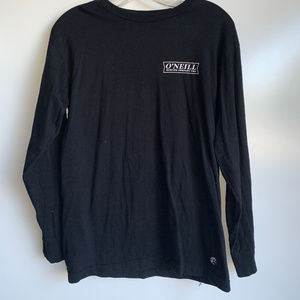 O'NEILL Men's Black Long Sleeve Tee Shirt Small